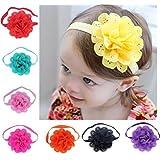 Oyedens 8pcs BéBéS Filles Fleur Bandeaux Accessoires De Photographie Headband Accessoires