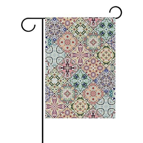JIRT Garten-Flagge, 30,5 x 45,7 cm, Abstraktes Mosaik-Muster, doppelseitig, Polyester, Banner für drinnen und draußen, für Rasen und Hof, Dekoration, Image 73, 12x18(in)