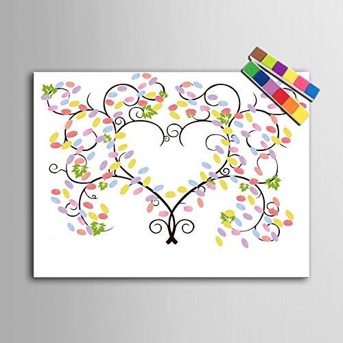 Impronta personalizzata pittura stampe su tela - albero di colore (include 12 inchiostro FColors) , blank ,