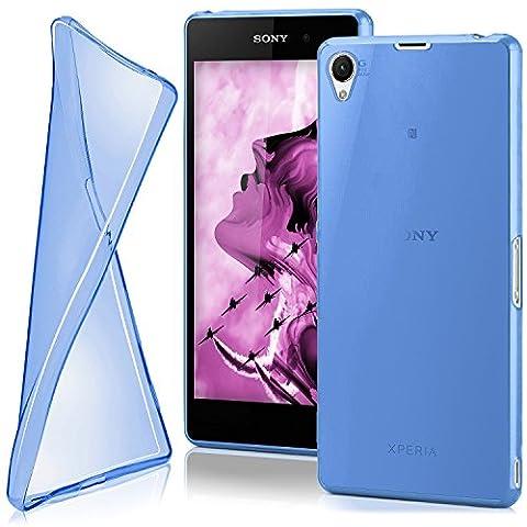 Housse de protection OneFlow pour Sony Xperia Z1 housse silicone Case en TPU de 0,7mm | Accessoires Cover pour la protection du téléphone portable | Housse téléphone portable Bumper pochette transparente en SKY-BLUE