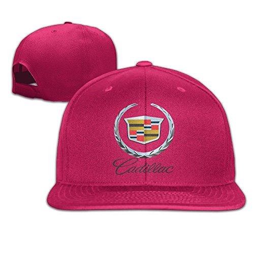 maneg-cadillac-logo-unisex-fashion-cool-ajustable-snapback-gorra-de-beisbol-sombrero-un-tamano-rojo