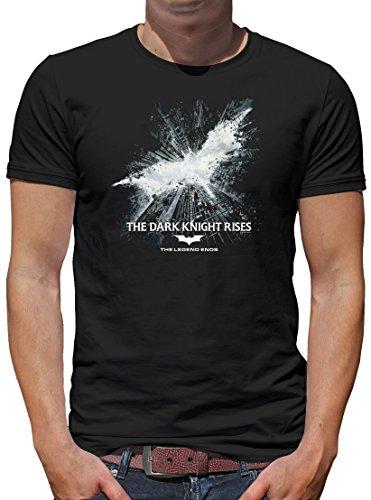 k Knight Rises T-Shirt Herren M Schwarz (Rise Club Halloween)