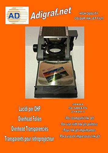 OHP Film Inkjet, Lucidi trasparenti per stampanti a getto d