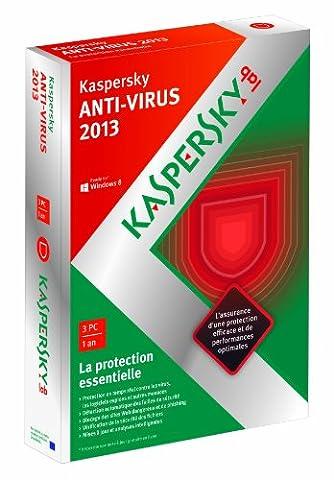 Kaspersky antivirus 2013 (3 postes, 1 an)