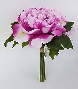 Bouquet Di Peonie 6 Fiori In 3 Colorazioni Differenti (Rosa)