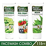 Roop Mantra Face Wash Combo (Cucumber Face Wash + Neem Face Wash + Mix Fruit Face Wash), 115ml