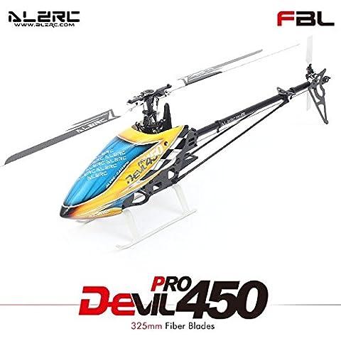 Bluelover ALZRC diablo 450 V2 Pro FBL helicóptero RC Kit negro