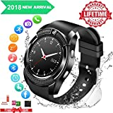 Smartwatch,Bluetooth Smart Watch Phone Touchscreen,Smartwatch Ios mit Whatsapp Bluetooth Uhr mit Kamera Wasserdicht Smart Uhr Kompatible IOS Andriod Samsung iPhone X 8 7 6 6S 5 Plus für Herren Damen
