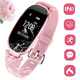 Fitness Tracker Smart Watch Männer Frauen, Bluetooth Activity Tracker Mit Herzfrequenz Touch Screen IP67 Wasserdicht Sport Armband Kalorienzähler