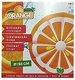Luftmatratze Schwimminsel Schwimmring Orange xxl mit 6 selbstklebenden Reparaturflicken Bild