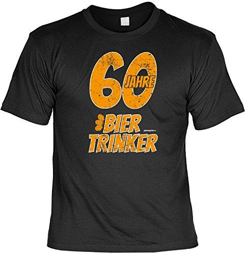 Cooles T-Shirt zum 60. Geburtstag - 60 Jahre Biertrinker - Geschenk zum 60. Geburtstag 60 Jahre Geburtstagsgeschenk Schwarz
