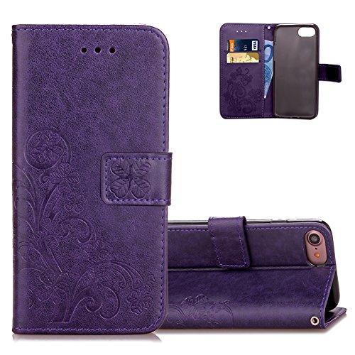 iphone-7-lila-lederhulle-brieftasche-aeequer-schlank-glucksklee-muster-kartenfach-standfunktion-hand