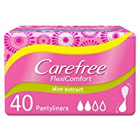 CAREFREE, Panty Liners FlexiComfort Aloe Pack of 40