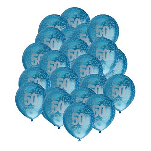 ons Geburtstag Ballons Feier Party Dekoration Nummer Muster - Blau 50 (Nummer 50 Ballons)