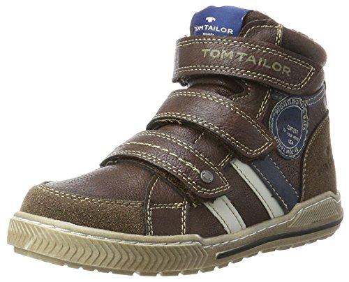 TOM TAILOR Jungen 3770403 Hohe Sneaker, Braun (Rust), 39 EU