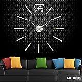 Aemember Wanduhr_Amazon Diy Spiegel Wall-Clock Wohnzimmer Uhren Großhandel, Silber G010