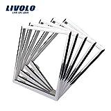 livolo Blanco Accesorios decorativos para marco cristal placa EU estándar Juego de 5(Marco de...