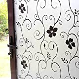 200 x 60CM /200x40CM Flower Window Films Self Adhesive Film Bathroom Glass Sticker Shower Door Privacy Film Sticker PVC Frosted