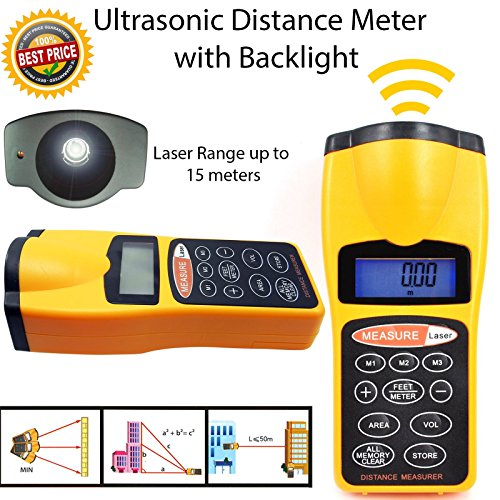Electronic Distance Measuring Tool (Ultraschall-Distanzmessgerät Messgerät Abstand schätzer Distance Measuring Gerät Tool w/Laser Pointer)