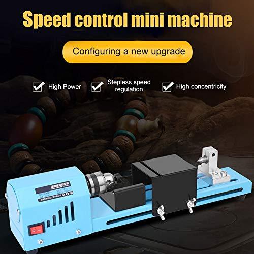 Modaily 150 Watt Mini Drehmaschine Perlen Polierer Maschine DIY CNC Bearbeitung für Tisch Holzbearbeitung Holz DIY Werkzeug (Hartmetall, Holz Drehbank-werkzeuge)