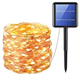 Criacr Solar Lights Outdoor, (200 LED, 8 Modes) Solar String Lights, 72 ft/20m Solar Fairy Lights, Auto on off, Waterproof for Patio, Garden, Home, Wedding, Pathway, Party (Warm White)