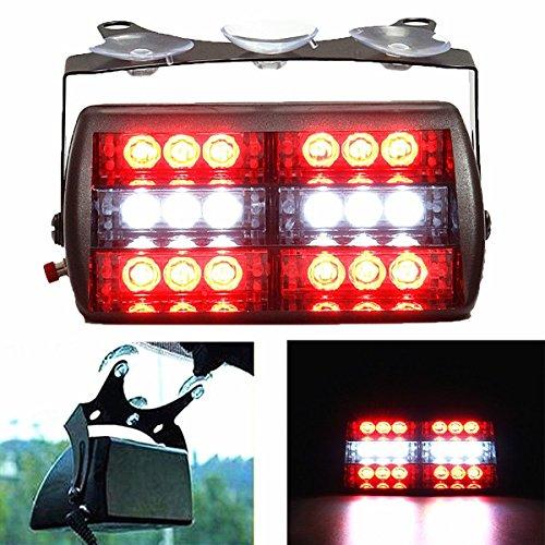 ILS - 5W 18LED Strobe Light Bar Car Emergency Flashing Lamp Red White
