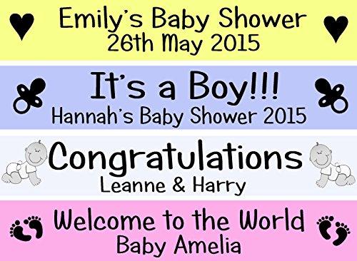 Personalisierte Baby Dusche Banner Wandschmuck IT 'S A BOY GIRL BANNER–Jede Farbe/TEXT
