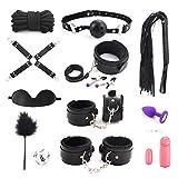 SM Bondage Set für Paare, YOTEFUN Sex Werkzeuge 13 Stück unter dem Bett Restraint System Slave für Anfänger Erfahrung Spaß damit haben (Schwarz)