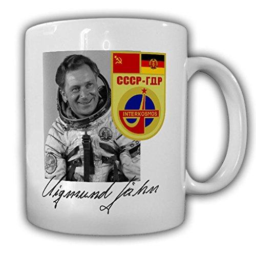 Tasse Sigmund Jähn Autogramm Kosmonaut DDR Sojus 31 29 NVA Weltraum #23293