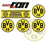Borussia Dortmund BVB 09 Aufkleber / Sticker / Gesichtaufkleber etiqueta engomada / autocollant