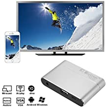 Full HD 1080P MiraScreen pantalla Dongle HDMI VGA Video Convertidor Miracast DLNA Airplay Mirroring Display Dongle para HDTV, Monitor y Proyector Android 4.4 y superior, iOS 9 y superior, Windows 7 y superior, Mac OS 10.9 y superior AH333