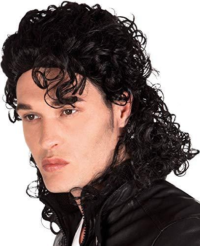 �r Herren und Damen, gelockt, King of Pop, 1990er Jahre, berühmte Person, Musik Celebrity 90er Jahre, Schwarz ()