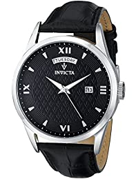 Invicta 12243 Vintage Men's Wrist Watch Stainless Steel Quartz Grey Dial