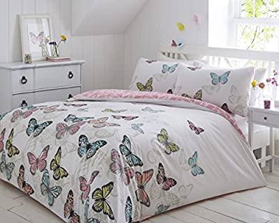Pieridae New Butterflies Complete Duvet Bedding Quilt Cover Bedroom Set Single Double King Super King - low-cost UK light store.