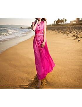 pllp Vestido delgado de gasa fina, vestido de playa de vacaciones en la playa, falda larga, vestido de verano...