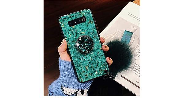 Gr/ün Homikon Silikon H/ülle Gl/änzend Bling Glitzer Schutzh/ülle Glitzer Diamant Ring St/änder Sto/ßd/ämpfend PC R/ückschale TPU Silikon Bumper Handyh/ülle Tasche Case Kompatibel mit Samsung Galaxy A50