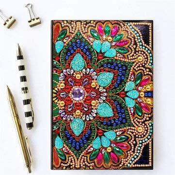ExcLent Diy Diamant Malerei Spezielle Form Tagebuch Buch Diamant Dekorationen A5 Notebook Stickerei Kits - I -