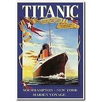 Titanic estrella blanca de barco Vintage camiseta de manga corta para Póster de póster (24