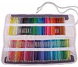 Amoyie Trousse Pliable Peut contenir 120 Crayons de Couleur, Porte-Crayons Sac avec1 Petit Sacs à Cordon Couteau pour Couteau, Gomme
