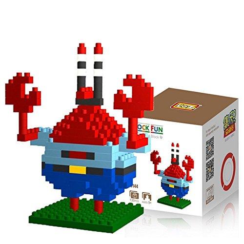 """Preisvergleich Produktbild Katara DIY Block-Set zum Aufbauen Spongebob Schwammkopf """"Mr. Krabs"""" ca. 7cm groß als Geschenkidee für Weihnachten, Geburtstag, Sammler"""