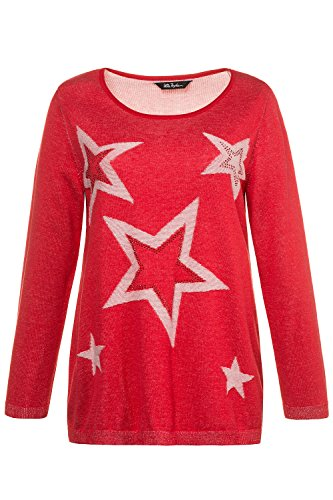 Ulla Popken Femme Grandes tailles Pull 715127 coquelicot