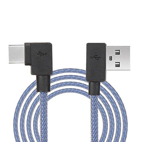 IMJONO Cable de sincronización y cable de carga del cable del USB del ángulo recto de 3.3ft para el teléfono androide