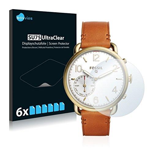6x Savvies SU75 UltraClear Displayschutz Schutzfolie für Fossil Q Tailor (ultraklar, mühelosanzubringen)