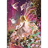DIY 5D Diamond Painting, Crystal Rhinestone Embroidery Pictures Arts Craft for Home Wall Decor Fairy Queen on The Flower 11.8 x 15.7