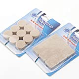 Felt Pads 36 Pack Furniture Pads Stick Heavy Duty Chair Floor Protector, Chair Glides For Furniture, Bar Stools, Lamps, TV's - Protective Pads