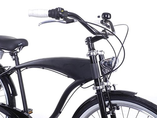 Fahrrad Lenker XXL breiter City Beach Cruiser Bügel 25,4 mm schwarz Handlebar