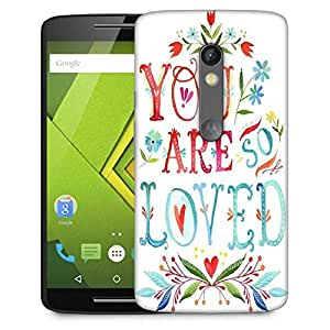 Snoogg YOU ARE SO LOVED Designer Protective Back Case Cover For Motorola Moto G4