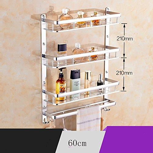 Extrem feste Duschregal Raum-Aluminium Handtuchhalter, Bad Regale, Wandhandtuchhalter, Bad-Accessoires (korrosionsbeständig Nicht Rust) Qualität sichern (Farbe : C, größe : 60cm)