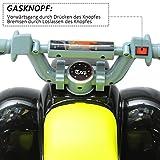 Homcom® Kinderauto Kinderwagen Elektroauto Kinderfahrzeug Kindermotorrad Quad Elektroquad Kinderquad Elektromotorrad (Elektroquad/gelb-schwarz) - 5