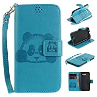 For Samsung Galaxy J5 2017 Case [With Tempered Glass Screen Protector],idatog(TM) Magnetic Flip Book Style Cover Case ,High Quality Classic Elegant Couples Dandelion Pattern Design Premium PU Leather Folding Wallet Case With [Lanyard Strap] and [Credit Ca